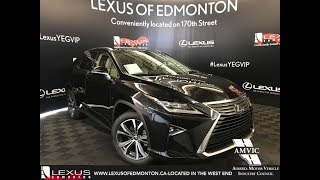 Black 2018 Lexus RX 350 Executive Package Walkaround Review South Edmonton Alberta