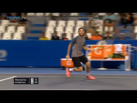 CHEEKY: Adrian Mannarino's No-Look Winner | Acapulco 2018