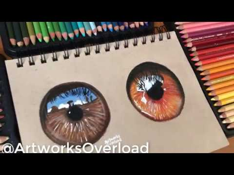 Hazel orange and Brown Realistic Iris
