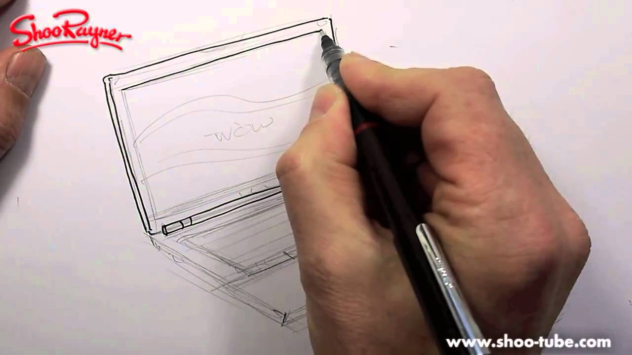 how to draw a laptop computer - youtube  youtube