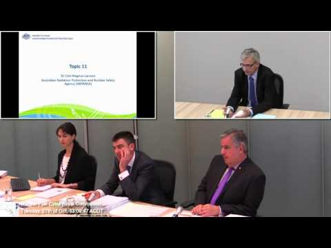 Dr. Carl Larsson - Impact of Radiation Release - Australian Nuclear Fuel Cycle Royal Commission