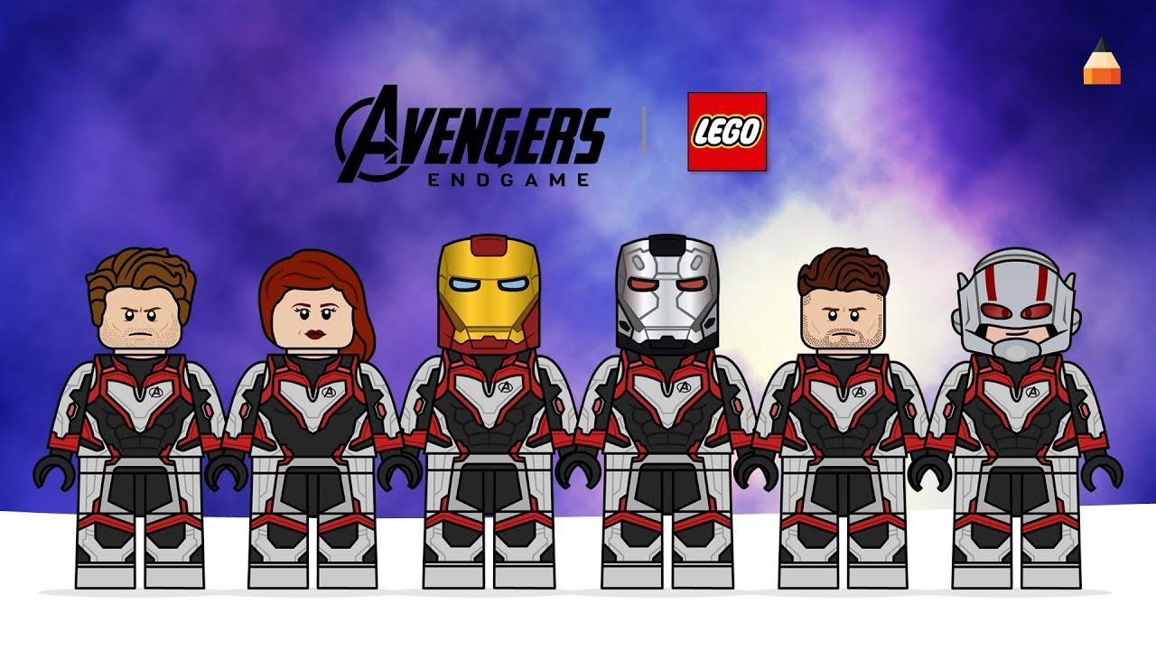 Avengers Endgame Drawing Lego Minifiures - part 2 | #LEGO ...