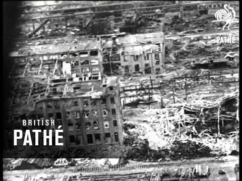 Aerial View Of Bombed Hamburg (1943)