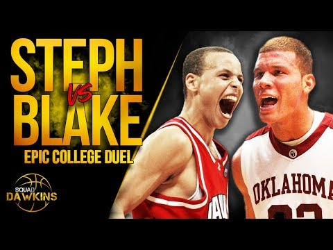 Stephen Curry vs Blake Griffin EPiC College Duel  - Blake 25 Pts, 21 Rebs, With Steph With 44 Pts!