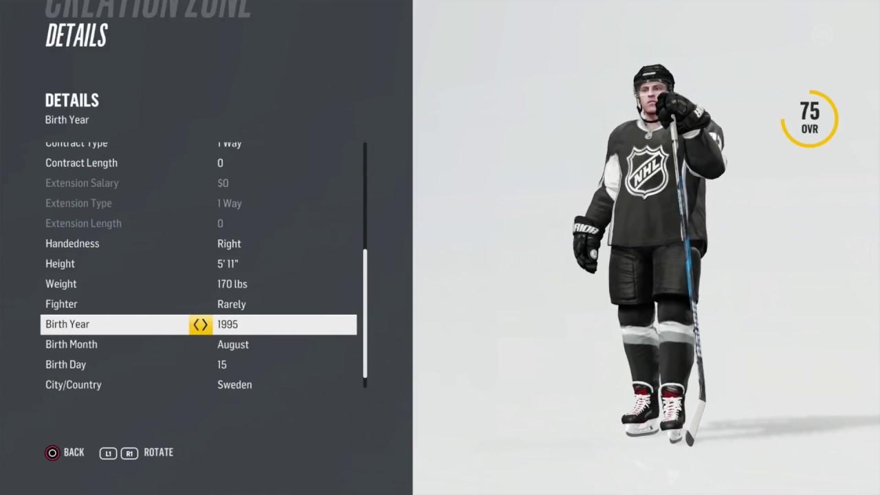 3e5957326 Adam Boqvist - NHL 18 - Player Creation Tutorial - YouTube