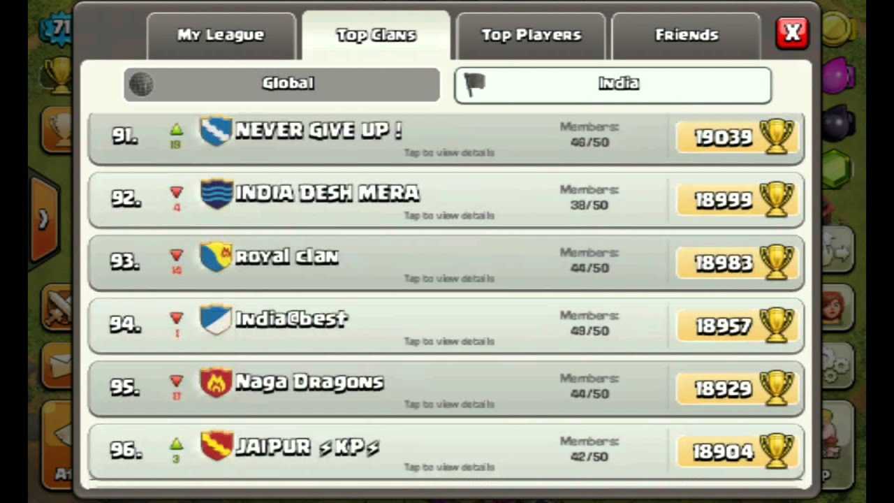 cool clash of clans clan names