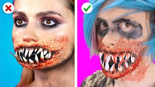 Trying HALLOWEEN IS HERE! 8 Spooky Halloween Makeup & DIY Costume Ideas! Party Hacks by Crafty Panda