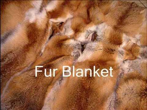 Red Fox Fur Blanket Throw Rug Pelzdecke Felldecke