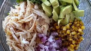 Healthy Recipe- Chicken Avocado Salad