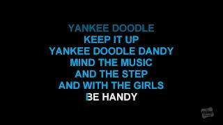 Yankee Doodle in the style of Traditional karaoke video with lyrics (no lead vocal)