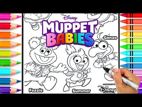 Muppet Babies Coloring Page | Disney Jr. Muppet Babies Coloring Book ...