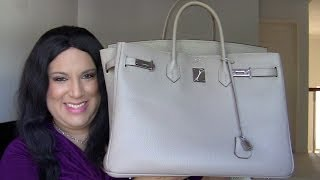WHAT'S IN MY BAG? - GREY LEATHER HERMES BIRKIN Thumbnail