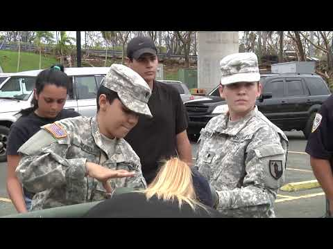 Puerto Rican National Guard Distributes Potable Water