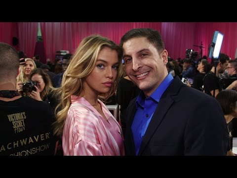 Stella Maxwell Backstage at the Victoria's Secret Fashion Show with Arthur Kade