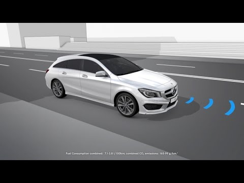 cla shooting brake pre safe system mercedes benz original youtube. Black Bedroom Furniture Sets. Home Design Ideas