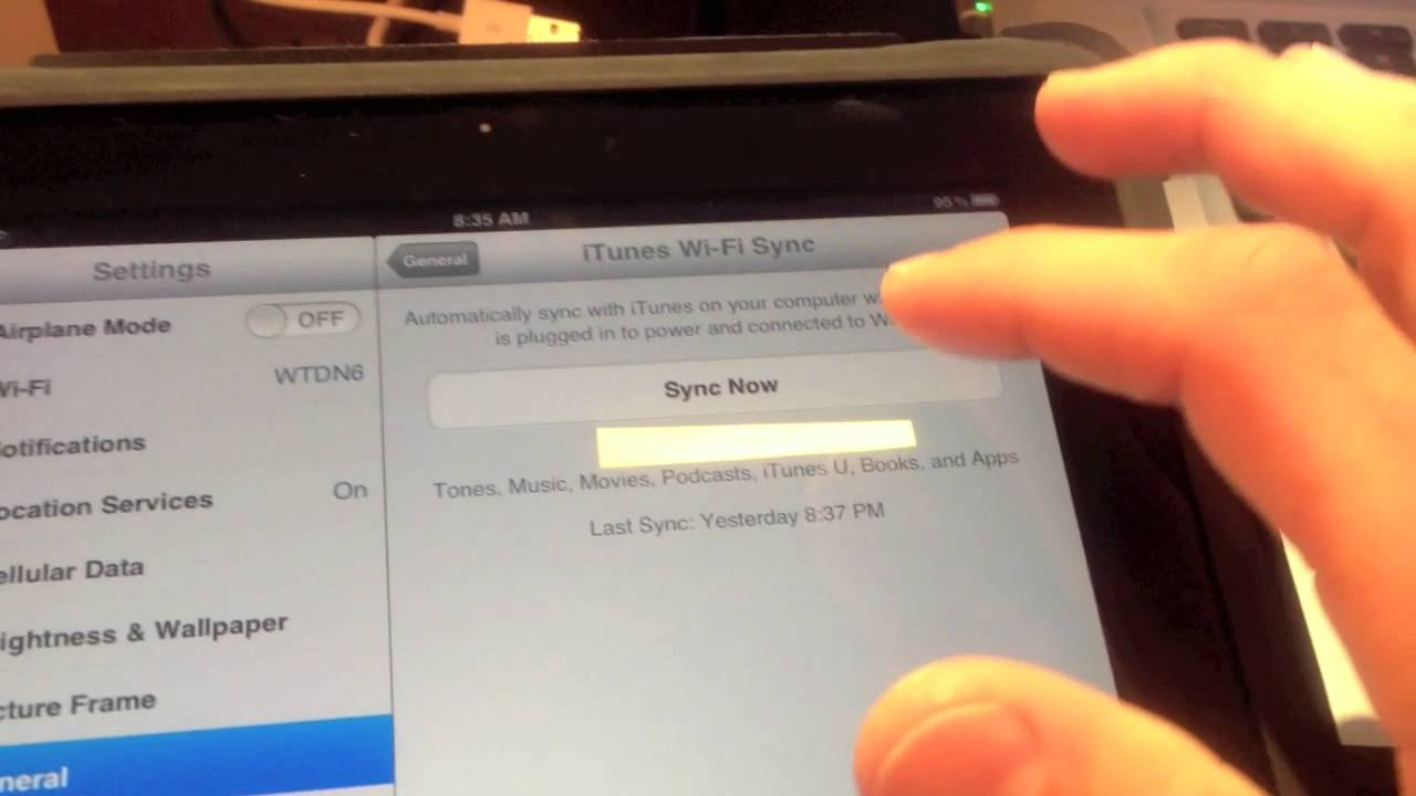How to use iTunes Wi-Fi Sync