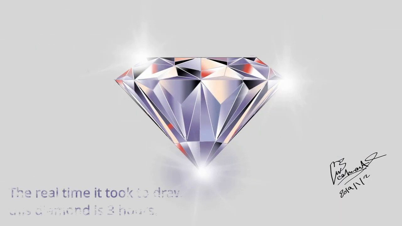 how to draw digital diamond (drawing by C a l m Art) || using sketch App