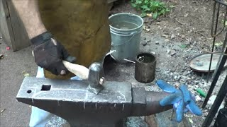 Blacksmithing - Making a Flatter Blacksmith Hammer From A Small Sledge language approp