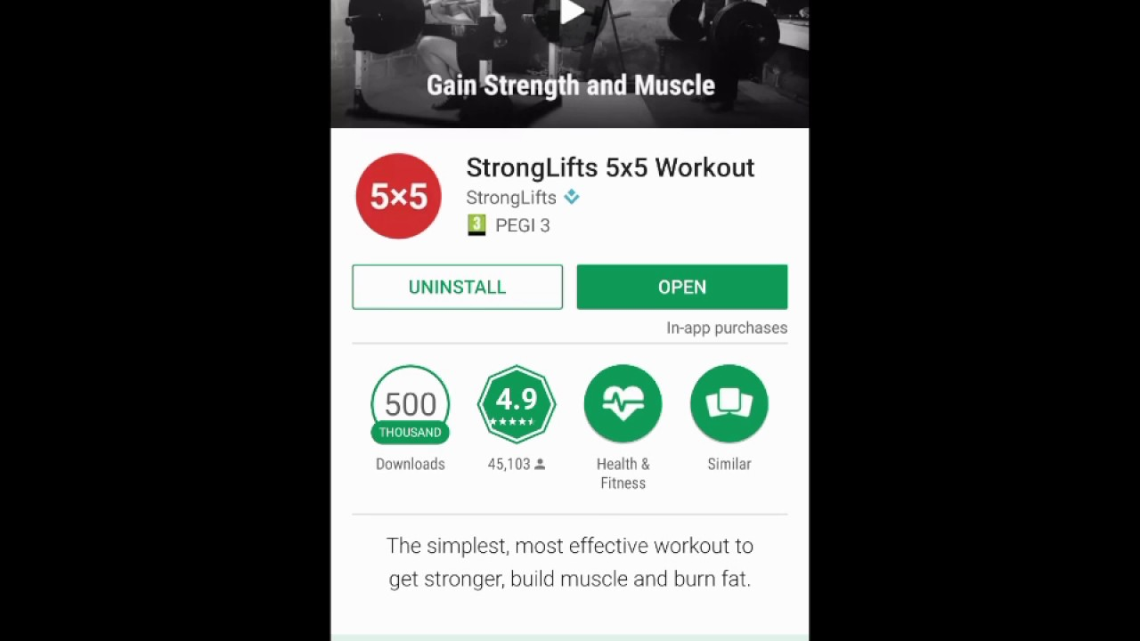Stronglifts 5x5 Workout App Build Strong Muscles Available in Your Pocket