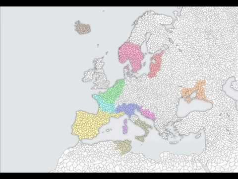 Map Of Europe With Provinces.Europe Map With Smaller Provinces Youtube