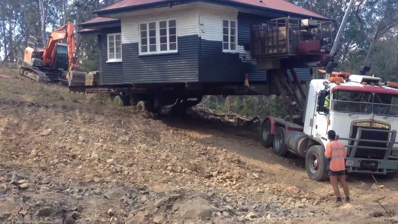 House Move Down Steep Hill Youtube