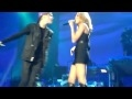 watch he video of Justin Bieber Feat. Miley Cyrus - Overboard Live Full @ MSG HQ!