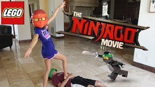 WORLD'S LARGEST LEGO NINJAGO SET!!! Ninjago Movie Day & New Minifigures!