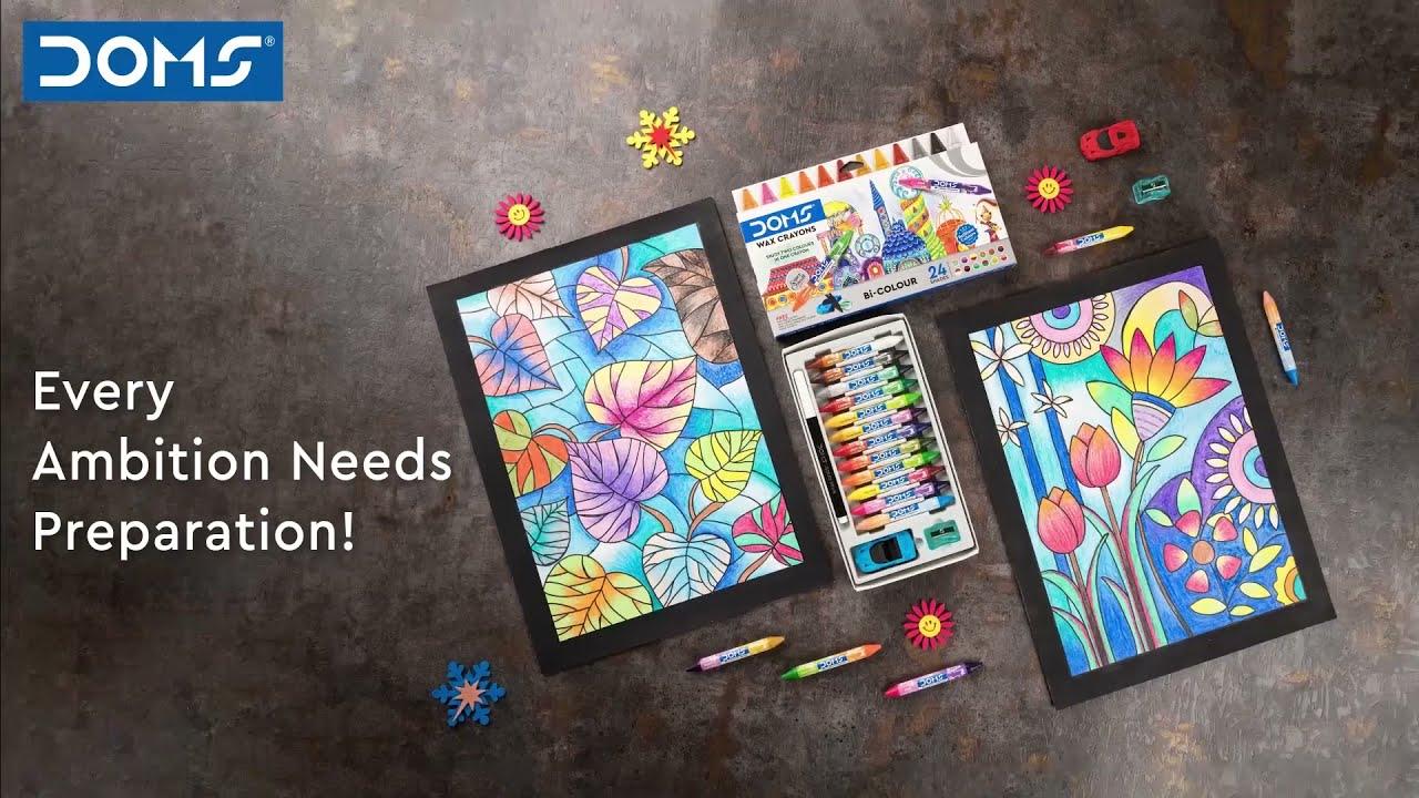 DOMS   Bi-Colour Wax crayons