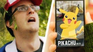 Pokemon GO Покемон Го Покемоны ловят людей  Прикол Ржач Пикачу 2016