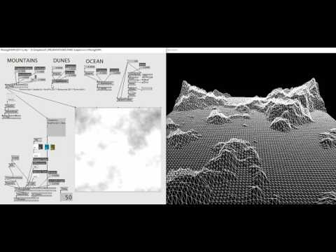 How to use generate landscapes from noises in VVVV
