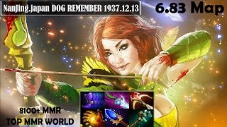 NanJing.japan DOG REMEMBER 1937.12.13 - Windranger Pro Gameplay | 8100+ MMR | Dota 2 New 6.83 Map