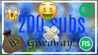 200 SUB ROBUX GIVEAWAY!!| Bushy RBLX{CLOSED}