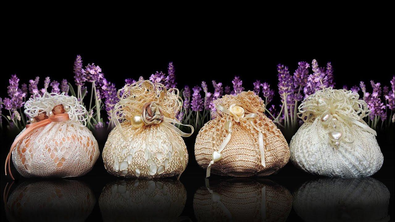 Alte Spitzendeckchen Neue Lavendelsäckchen Vintage Shabby Chic