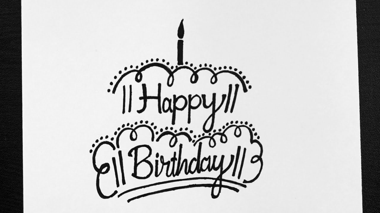 How To Write Happy Birthday Write Happy Birthday In Style Calligraphy For Beginners Youtube