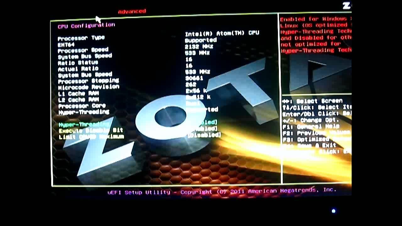 Zotac ZBOX ID80 Plus Mini PC - UEFI