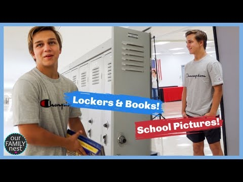 High School Picture Day! Lockers, Schedules & More!
