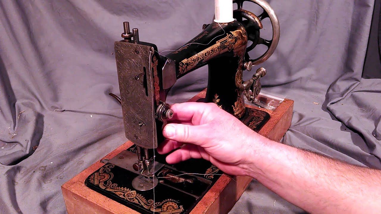 How to Thread Vintage Antique Singer Treadle Electric