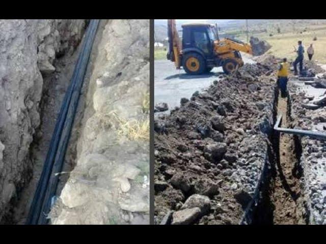 В селе Хаци в Арцахе возобновилось строительство нового водопровода․Новости 14.06.2021