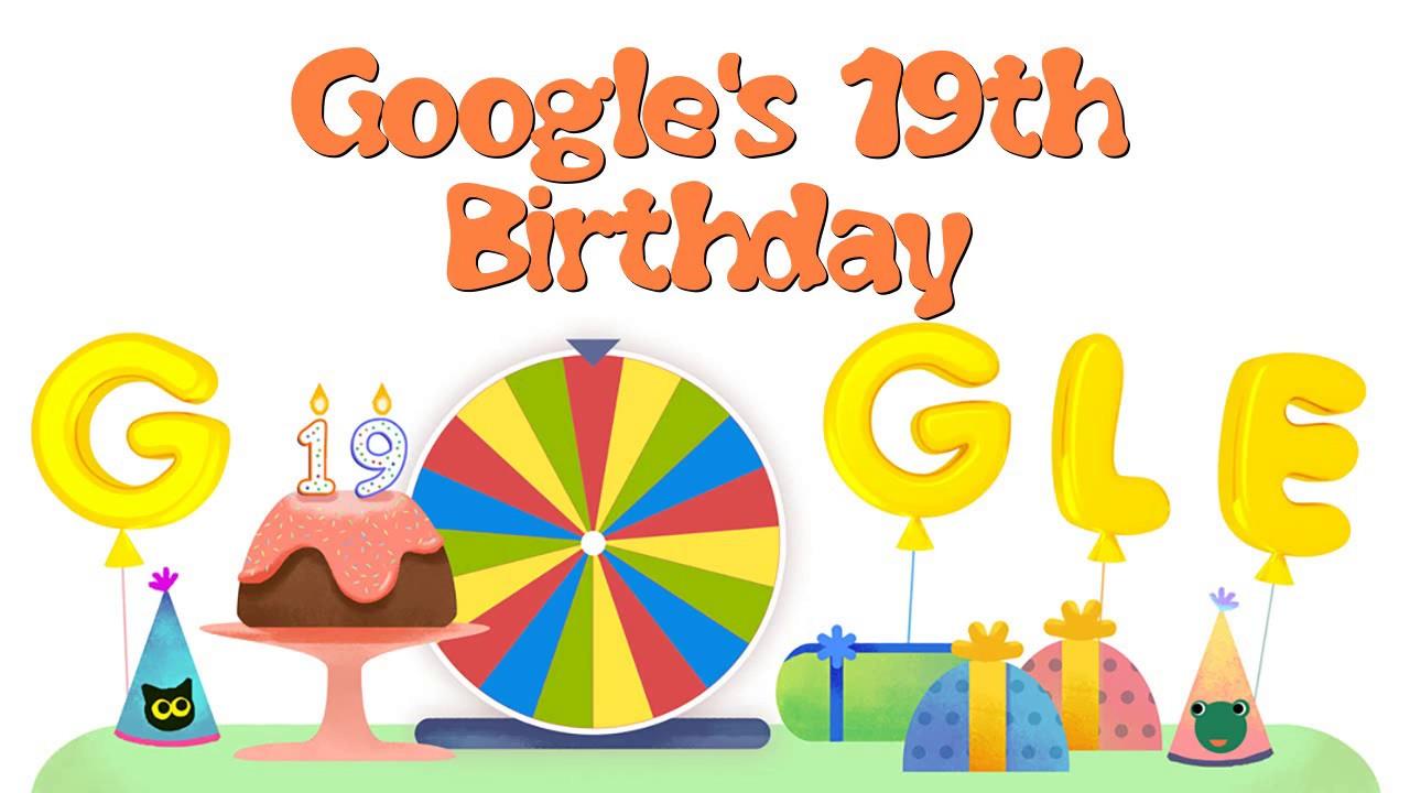 Google Birthday Surprise Spinner Google In Dogum Gunu Carkifelegi Google Birthday Surprise Spinner Youtube