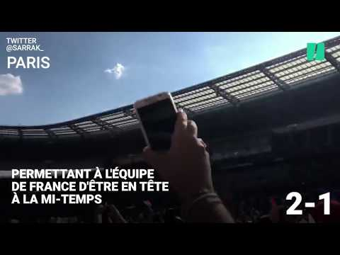 Revivez les buts du match France-Croatie du point de vue des supporters