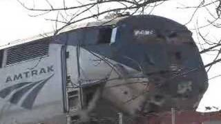Amtrak Train Collides with Freight Car