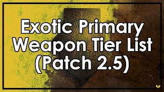 Destiny Rise of Iron: The Best & Worst Exotic Primary Weapons (Tier List Patch 2.5)