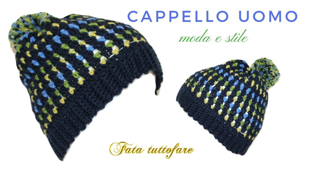 Tutorial Cappello Da Uomo Hat Crochetlafatatuttofare Youtube