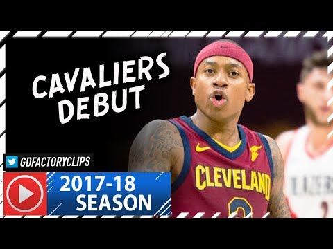 Isaiah Thomas Official Cavaliers Debut, Full Highlights vs Blazers (2018.01.02) - 17 Pts