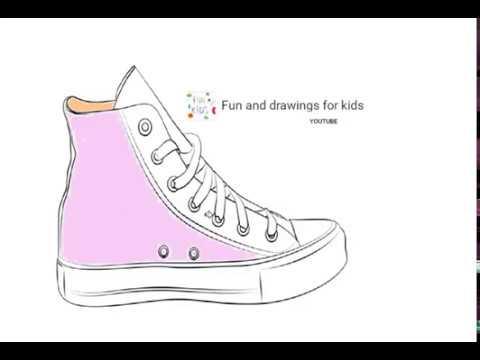 Dibujar Zapatillas De Baloncesto - YouTube