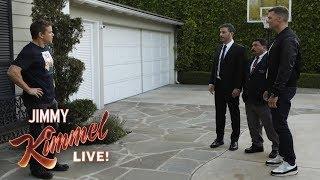 Tom Brady Helps Jimmy Kimmel Vandalize Matt Damon's House