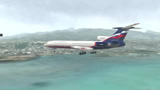 Tu-154M Tahiti Landing   X-Plane 11