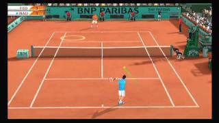 Federer vs. Nadal Tie Break - Top Spin 4 - Wii Workouts