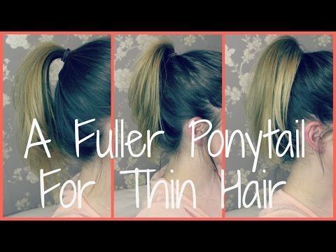 A Perkier Ponytail for Thin/Flat Hair