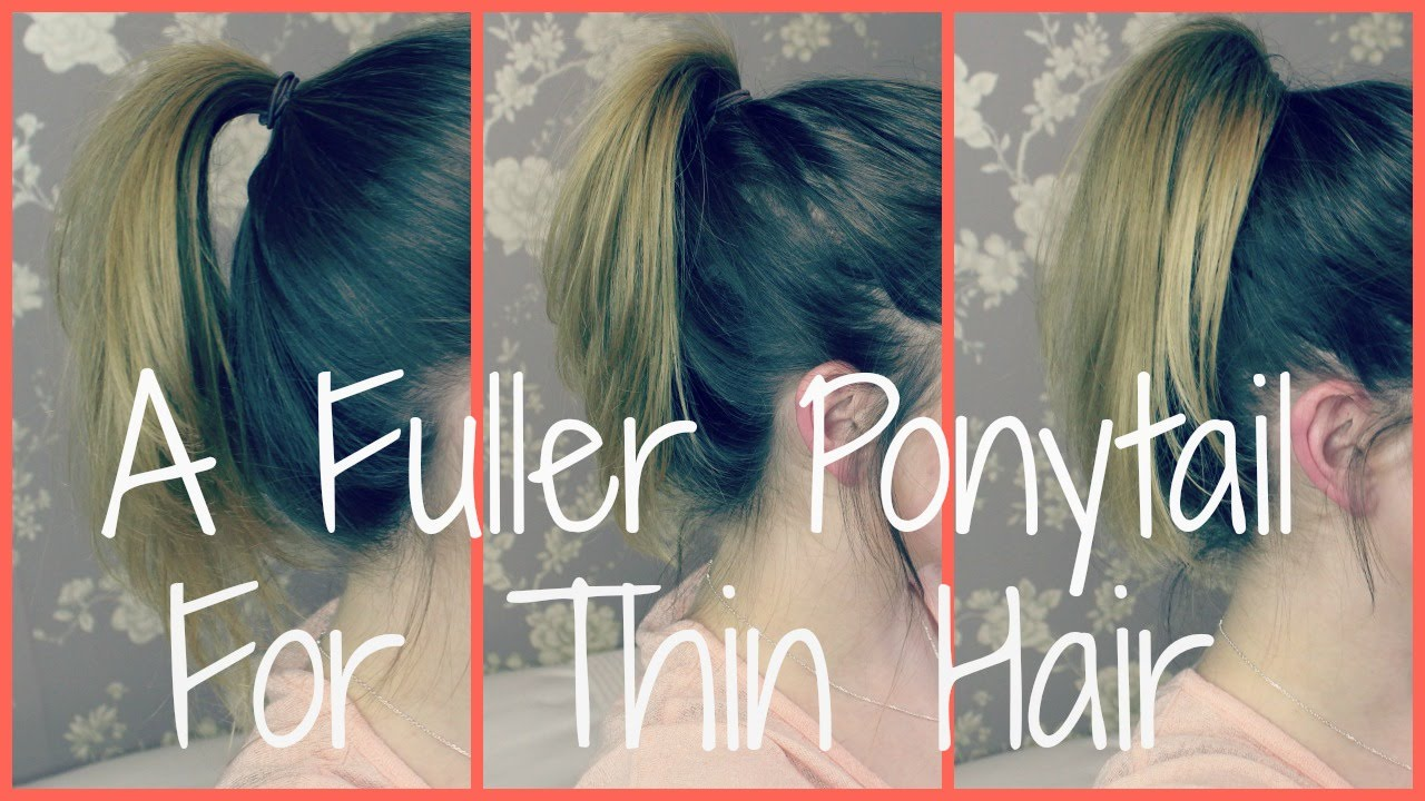 A Perkier Ponytail For Thin Flat Hair Pollypocketbeauty Youtube